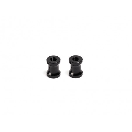 Infinity Aluminum Rear Wing Post - Black (2pcs)