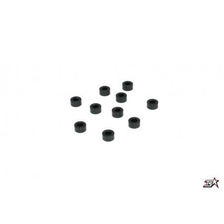 Infinity Aluminum Washer 3,0 x 6,0 x 3,0mm - Black