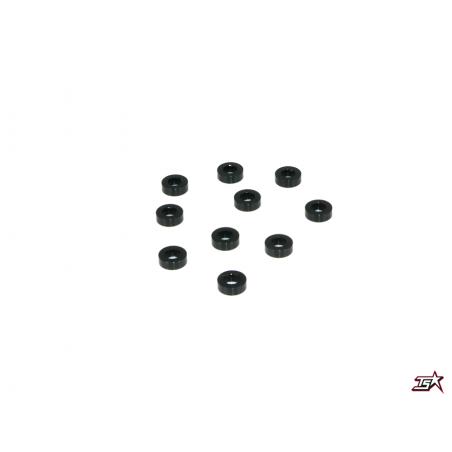 Infinity Aluminum Washer 3,0 x 6,0 x 2,0mm - Black