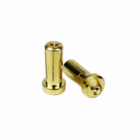 1up Racing LowPro Bullet Plugs - 5mm - Pair