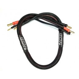Team Zombie 4/5mm 24K plated male tube plug 60cm 12awg charging wire (black)