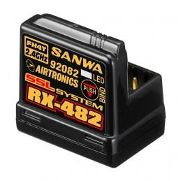 Sanwa RX-482 (2.4GHz, 4-Channel, FHSS-4, SSL) Telemetry Receiver w/Internal Antenna