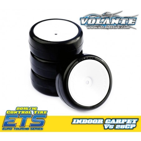 Volante V5 1/10 TC 28CP Indoor Carpet Rubber Tire Preglued (4pcs)
