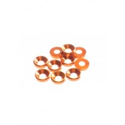 Hiro Seiko 3mm Alloy Countersunk Washer (10pcs) Orange