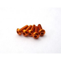 Hiro Seiko Alloy H_Button Screw M3x10 (Orange) 5pcs