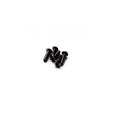 Hiro Seiko Alloy H_Button Screw M3x8 (Black) 5pcs