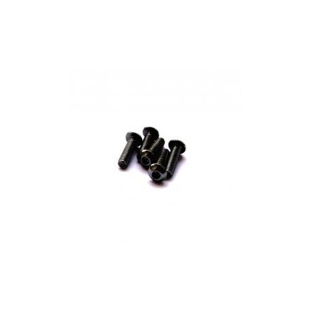 Hiro Seiko Alloy H_Button Screw M3x10 (Black) 5pcs