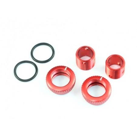 RADTEC Aluminum Body Height Fine Adjustment Set Red