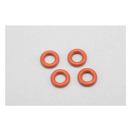 """Gear Differential """"O"""" Ring (Silicon/Red·4pcs)"""