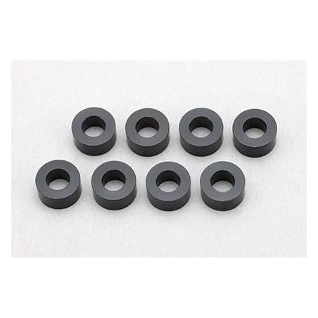 3×6×3.0mm Aluminum Shim (8pcs·Black)