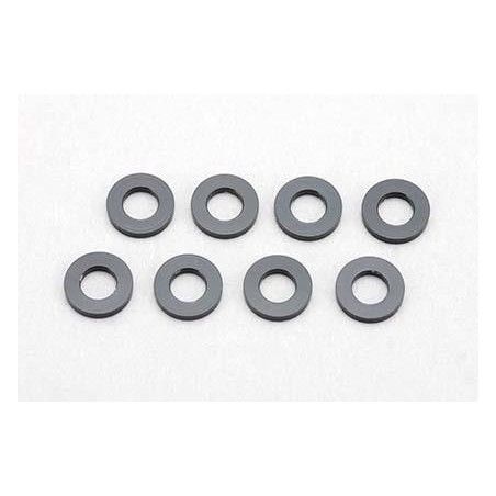3×6×0.5mm Aluminum Shim (8pcs·Black)
