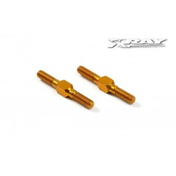 XRAY 303212-O - ALU ADJ. TURNBUCKLE L/R 26 MM - ORANGE - SWISS 7075 T6 (2 pieces)