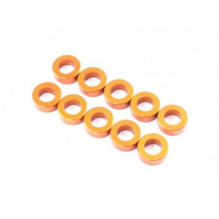 RADTEC 3x5x0.5mm Aluminium Spacer Orange (10pcs)